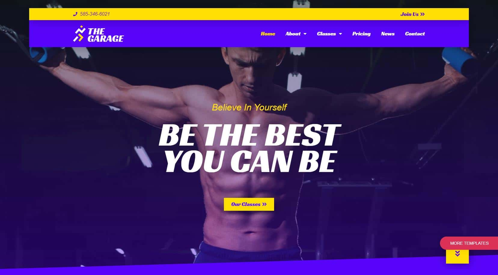 Gym and Fitness Website