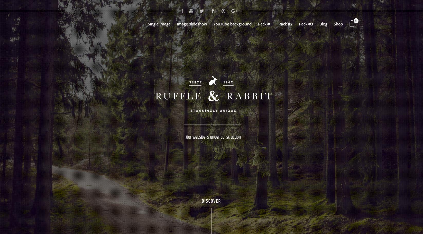 Unique minimal website