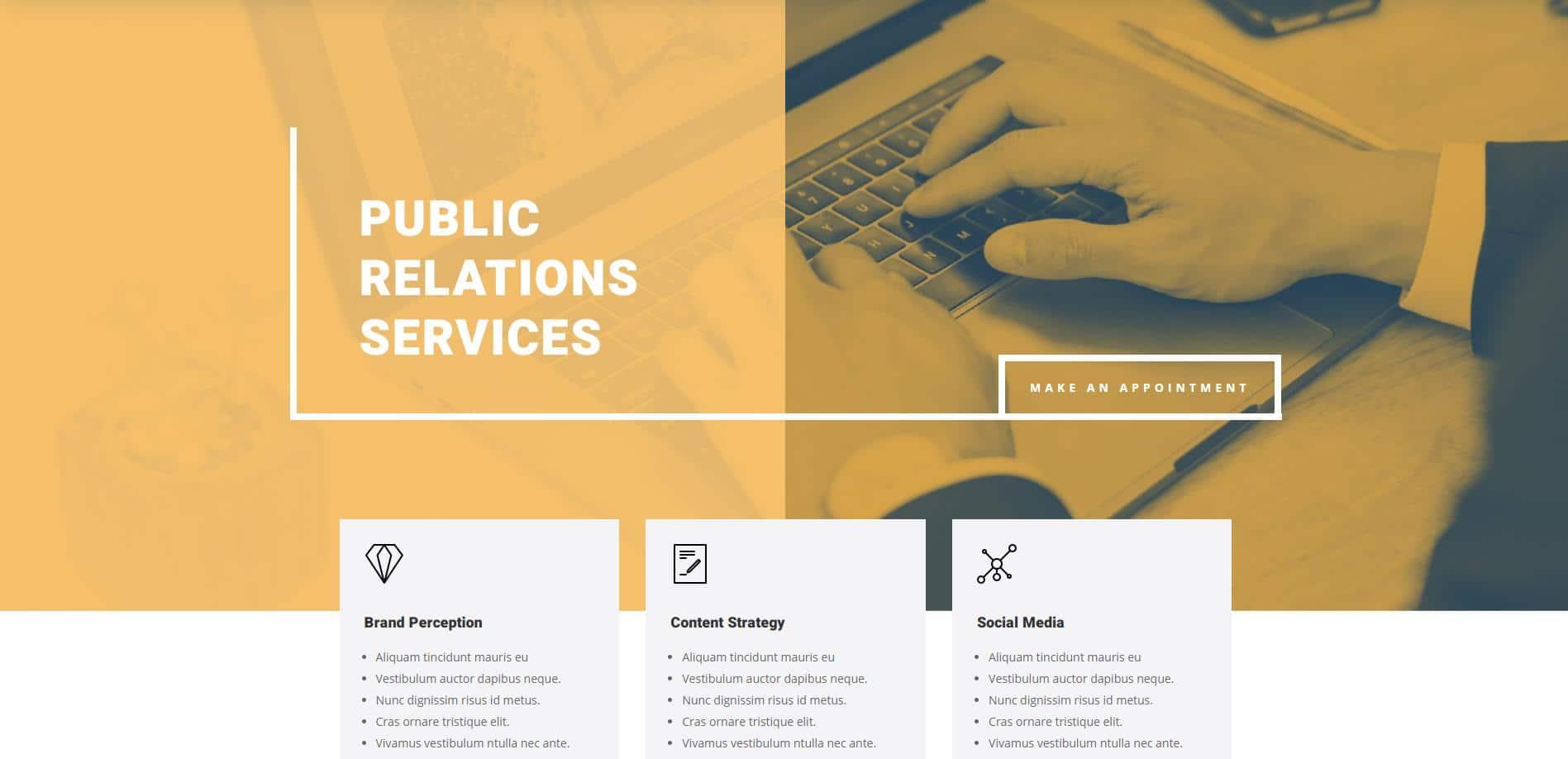 PR Firm Website Design