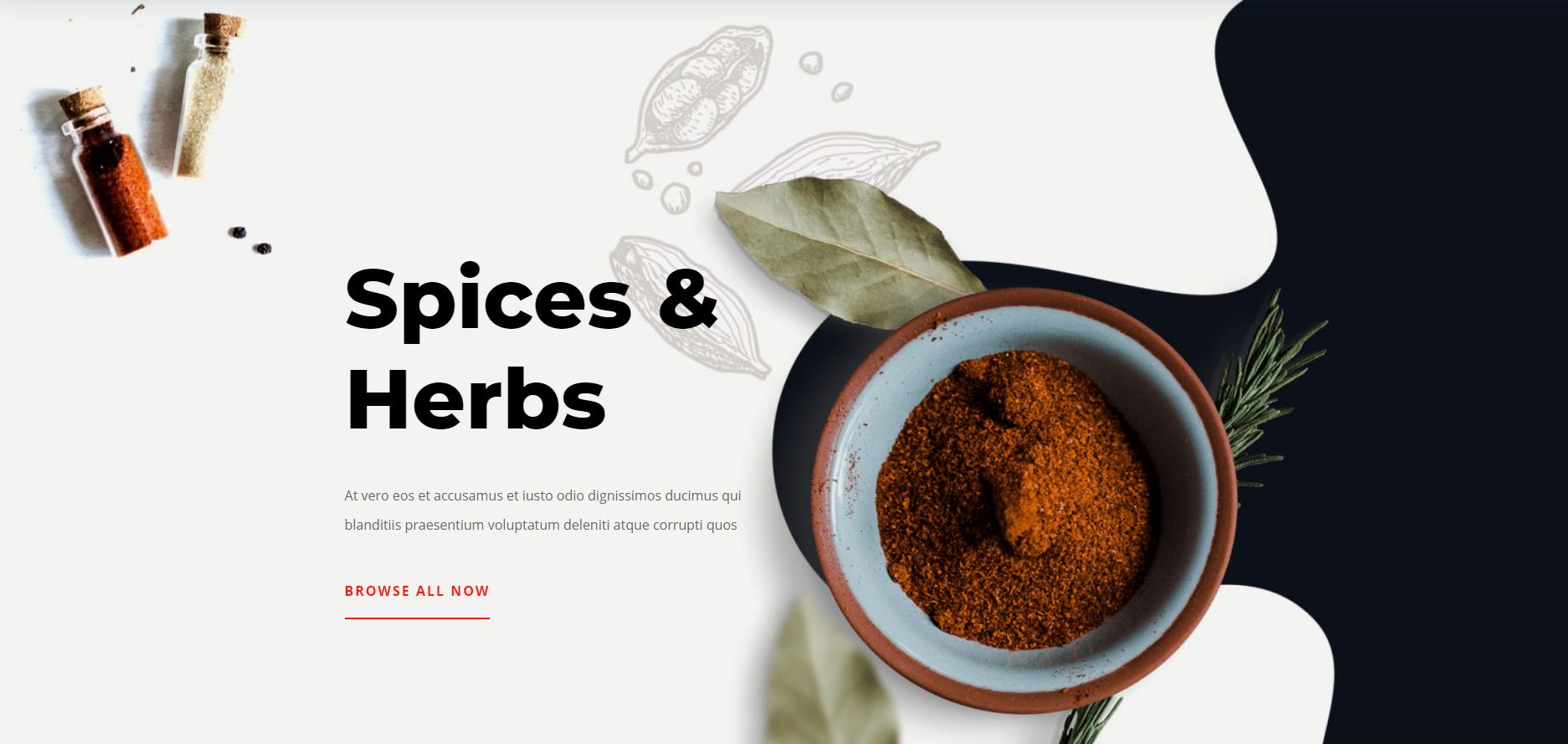 Spice Shop Website Design