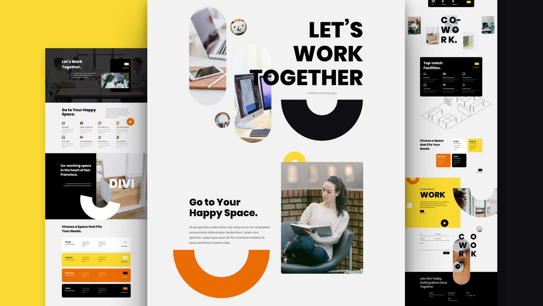 Coworking Space Design for Website