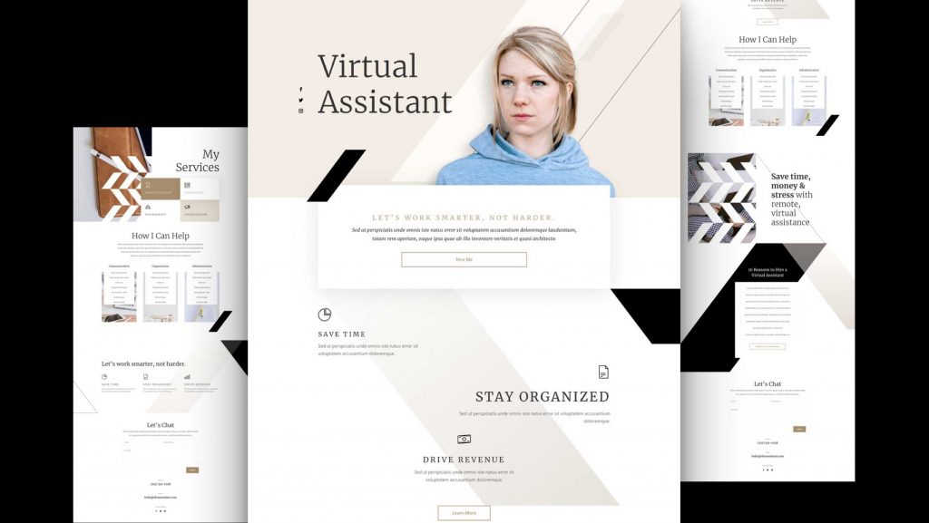 Virtual Assistant Website Design